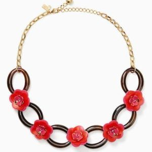 NEW KATE SPADE Rosy Posies Statement Necklace NWT